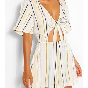 Nasty Gal Pants & Jumpsuits - Striped romper